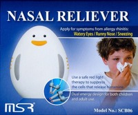 Nasal Allergy Reliever, allergy relief,release histamine, hay fever,rhinitis,light therapy for child mode,and adult mode respectively